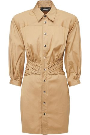 Dsquared2 Women Dresses - Stretch Cotton Poplin Dress