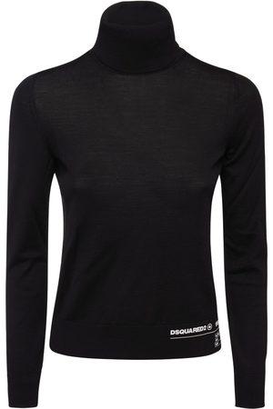 Dsquared2 Women Turtlenecks - Turtleneck Wool Knit Sweater