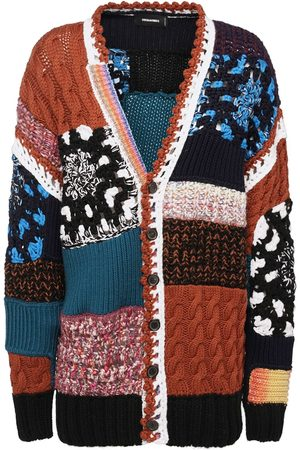 Dsquared2 Patchwork Wool Blend Cardigan