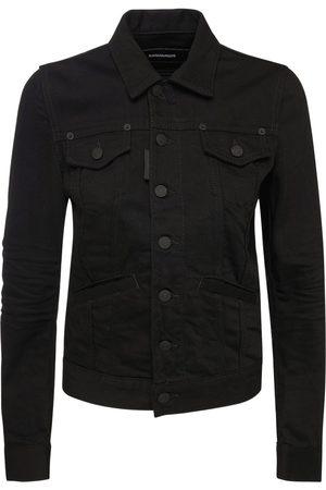Dsquared2 Men Denim Jackets - Icon Jean Logo Cotton Denim Jacket
