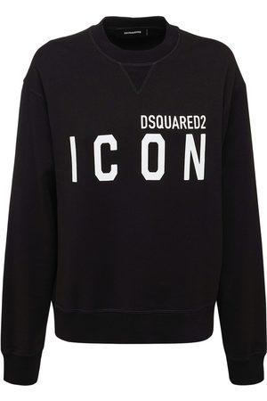 Dsquared2 Icon Cotton Jersey Crewneck Sweatshirt