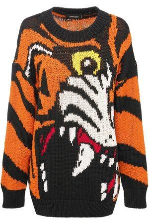 Dsquared2 Jacquard Wool Blend Knit Sweater