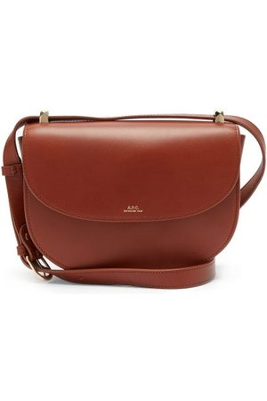 A.P.C. Women Clutches - Genève Cross-body Smooth-leather Bag - Womens - Tan