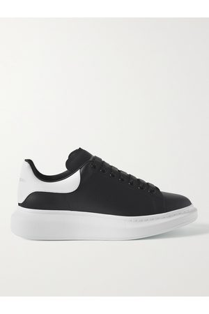Alexander McQueen Men Trainers - Exaggerated-Sole Leather Sneakers