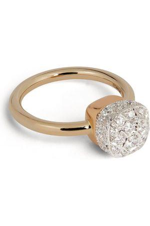 Pomellato Gold and Diamond Nudo Solitaire Ring