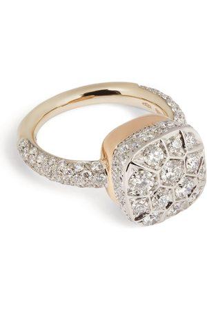 Pomellato Gold and Diamond Nudo Maxi Solitaire Ring