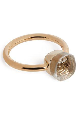 Pomellato Rose Gold and Topaz Nudo Petit Ring
