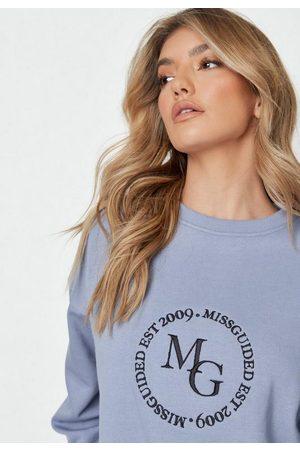 Missguided Women Sweatshirts - Tall Embroidery Deep Rib Sweatshirt