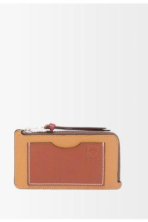 Loewe Women Handbags - Anagram-debossed Zipped Leather Cardholder - Womens - Tan