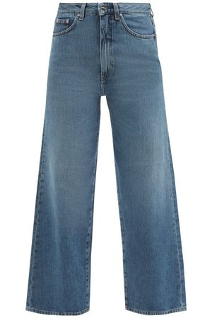 Totême High-rise Cropped Jeans - Womens - Mid Denim