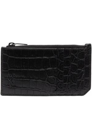 Saint Laurent Croco-effect wallet