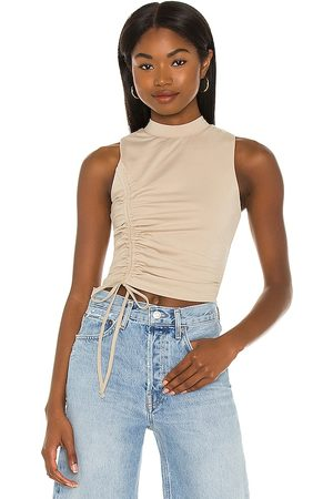 superdown Halsey Ruched Racer Top in . Size XXS, XS, S, M, XL.