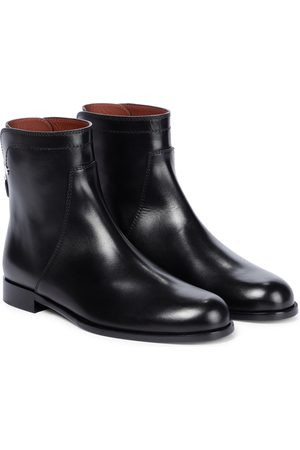 Loro Piana Welly leather ankle boots