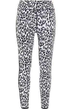 THE UPSIDE Women Sports Leggings - Woman Leopard-jacquard Leggings Size S