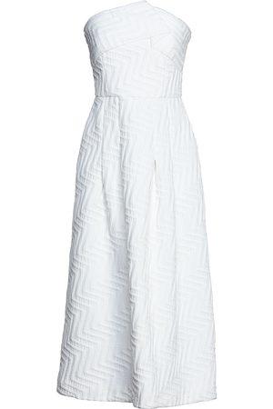 Roland Mouret Women Midi Dresses - Woman Saranda Strapless Pleated Jacquard Midi Dress Size 10