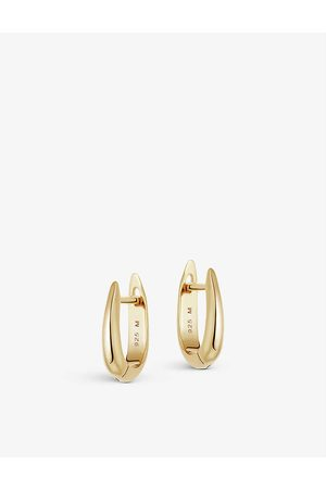 Missoma Plain Claw 18ct -plated vermeil sterling silver huggie earrings