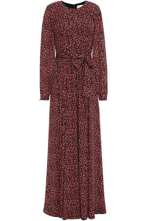 MIKAEL AGHAL Woman Belted Gathered Floral-print Crepe Maxi Dress Size 4