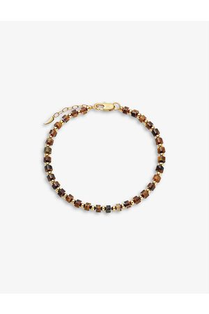 Missoma Women Bracelets - 18ct yellow -plated vermeil sterling silver and tiger's eye beaded bracelet