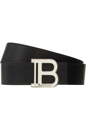 Balmain Men Belts - 3.5cm B Buckle Leather Belt