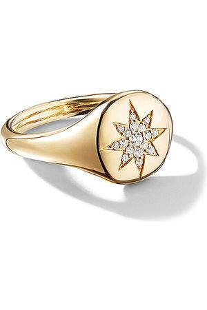 David Yurman Women Rings - 18kt yellow gold Cable Collectibles Compass diamond mini pinky ring - 88ADI