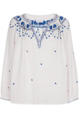 Velvet Women Tops - Lynette embroidered cotton top