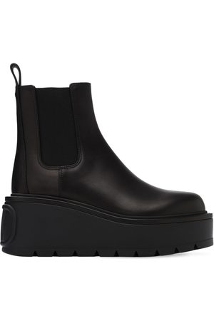 VALENTINO GARAVANI Women Ankle Boots - 85mm Beatle Leather Ankle Boots