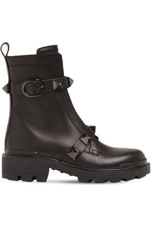 VALENTINO GARAVANI 40mm Leather Ankle Boots