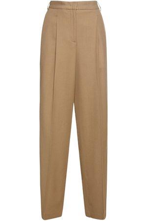 Aspesi Stretch Wool Straight Leg Pants