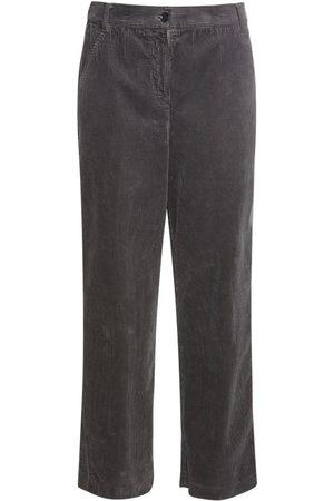 ASPESI Women Trousers - Cotton Corduroy Cropped Pants
