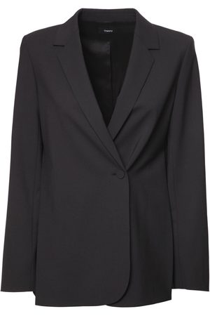 THEORY Double Breasted Wool Blend Blazer