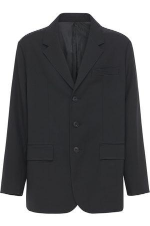 Solid Men Coats - Oversize Wool Jacket