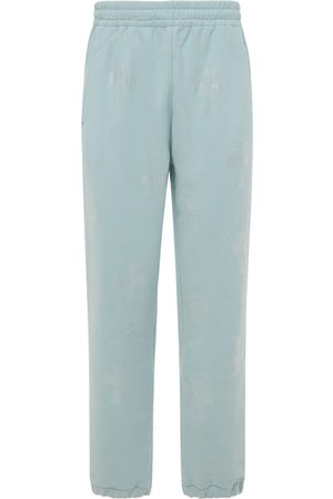 UNKNOWN Men Trousers - Crystal Cross Cotton Sweatpants