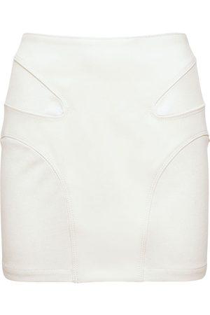 DION LEE Women Mini Skirts - Contour Stitch Mini Skirt