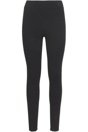 CASASOLA Women Trousers - Pure Silk Micro Rib Leggings