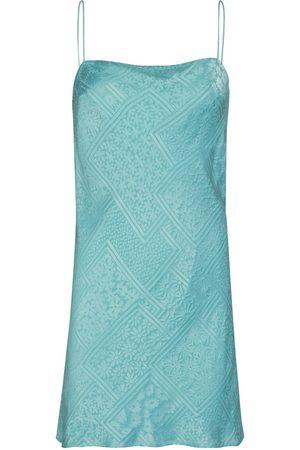 ROTATE Women Casual Dresses - Line Viscose Blend Satin Slip Mini Dress