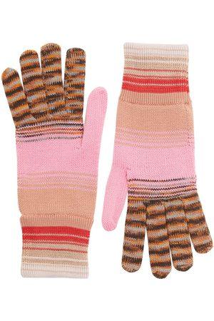 Missoni Women Gloves - Striped Wool & Viscose Knit Gloves