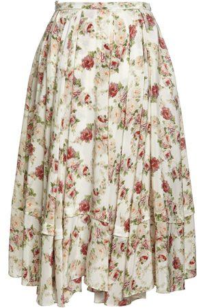 BROCK COLLECTION Women Midi Skirts - Printed Silk A Line Midi Skirt