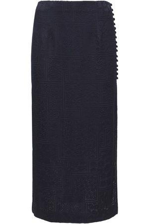 ROTATE Women Midi Skirts - Caitlin Viscose Blend Satin Midi Skirt