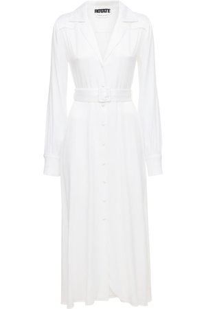 ROTATE Women Midi Dresses - Jolanda Viscose Blend Satin Midi Dress