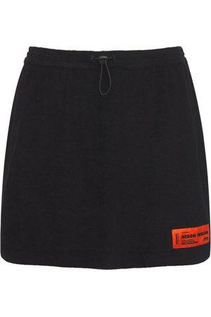 Heron Preston Women Mini Skirts - Cotton Terry Mini Skirt