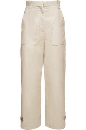 Agnona Women Trousers - Organic Cotton Blend Pants