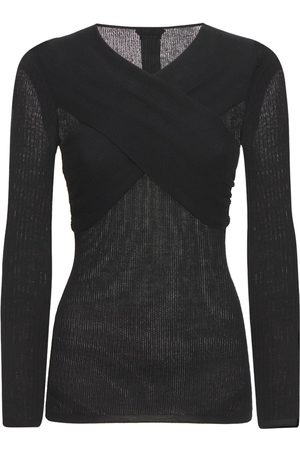 Tom Ford Cashmere & Silk Knit Cross Neck Sweater