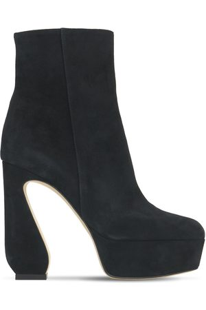 SI ROSSI Women Ankle Boots - 125mm Platform Suede Ankle Boots