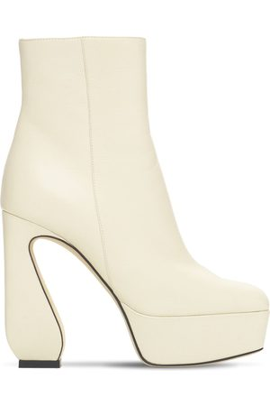 SI ROSSI 125mm Platform Leather Ankle Boots