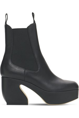 SI ROSSI Women Ankle Boots - 85mm Platform Leather Ankle Boots