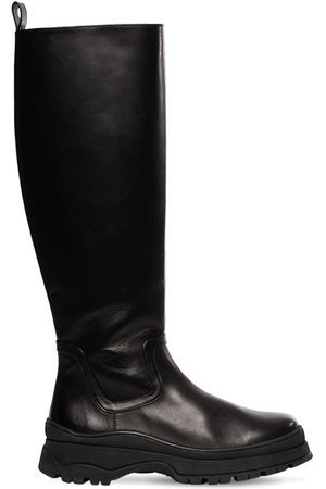 Staud Women High Leg Boots - 35mm Bow Leather Tall Boots