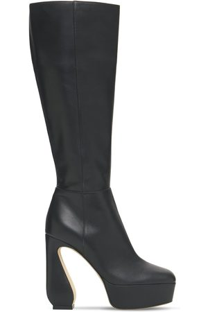 SI ROSSI Women High Leg Boots - 125mm Platform Tall Leather Boots
