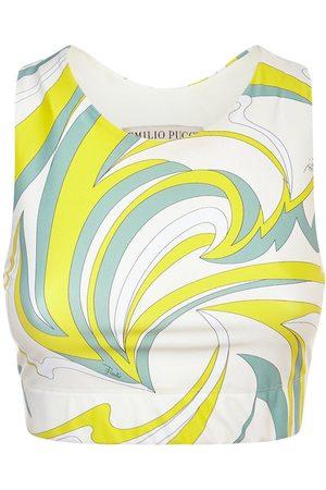 Emilio Pucci Printed Eco Lycra Sport Bra Top
