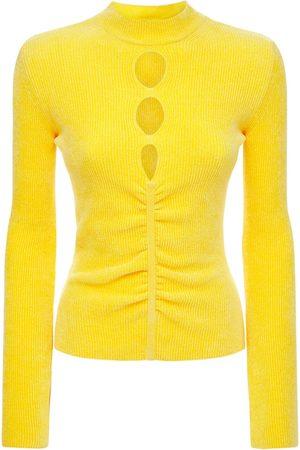 MSGM Viscose Blend Cutout Sweater