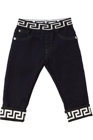 VERSACE Printed Cotton Jeans